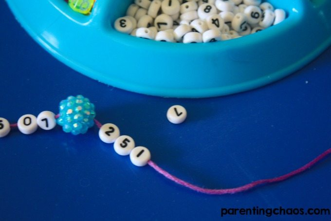 Easy DIY Phone Number Bracelets