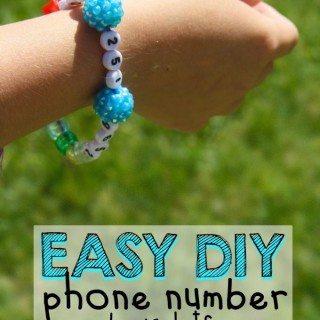 Easy DIY Phone Number Bracelets