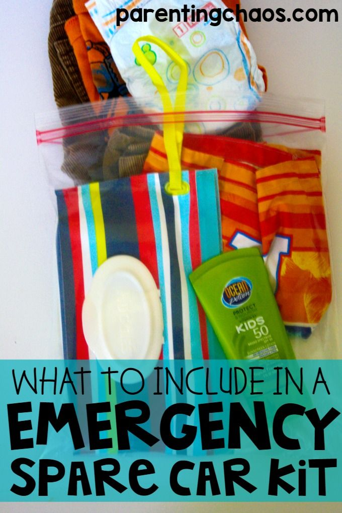 Emergency Car Spare Kids Clothes Kit