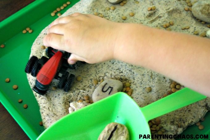 Farm Sensory Math Game: Tilling for Numbers