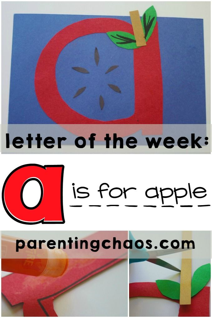 A is for Apple Craft