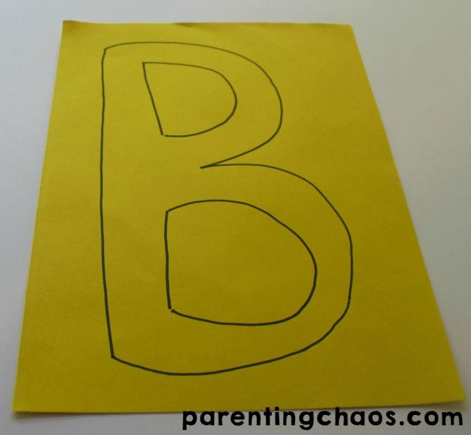 letter of the week b is for bee craft