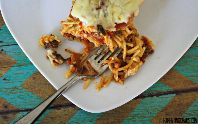 Twice Baked Spaghetti