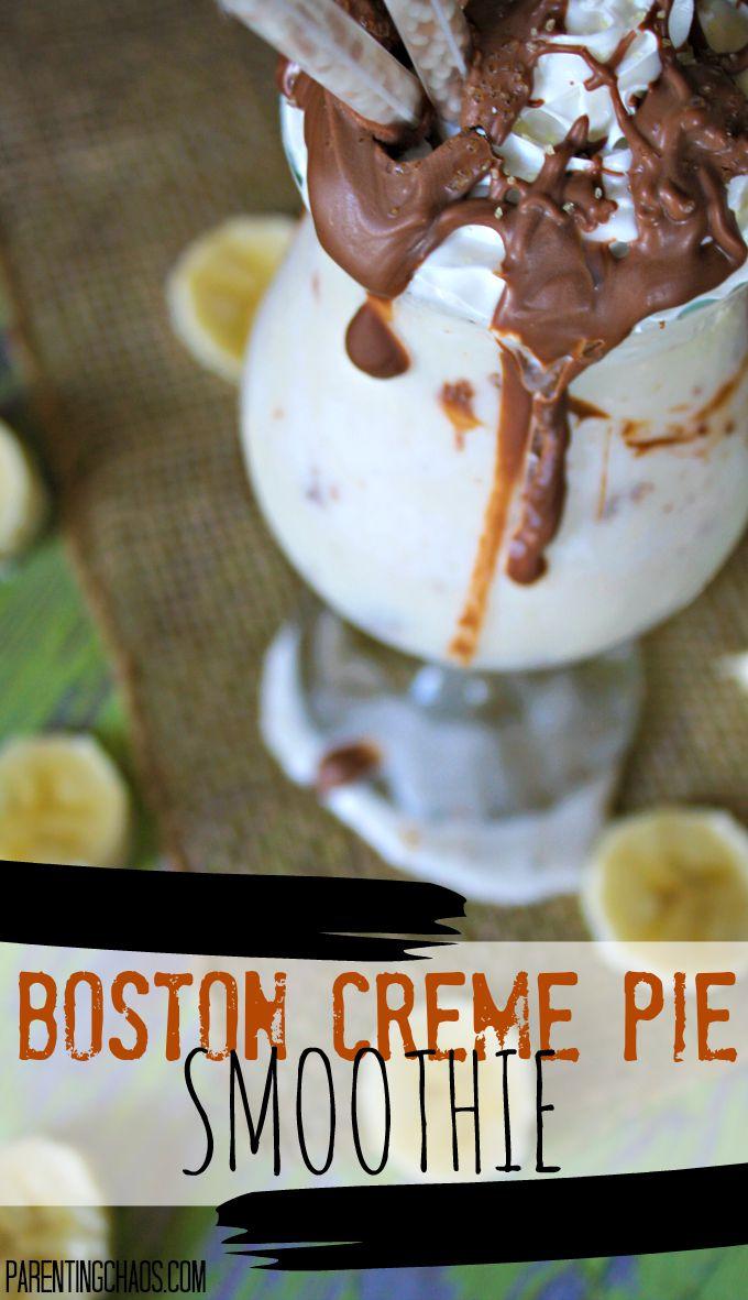 Skinny Boston Creme Pie Smoothie