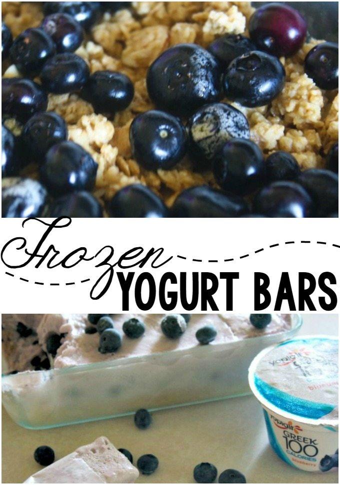 Frozen Yogurt Breakfast Bars: A FUN Way to Simplify a Healthy Breakfast!