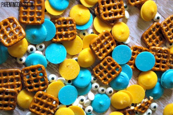 Minion Candy Pretzels!
