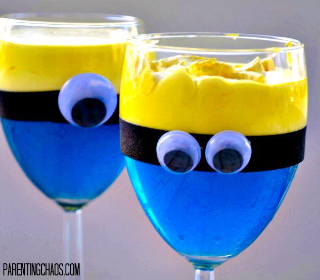 Minion Jello Cups!