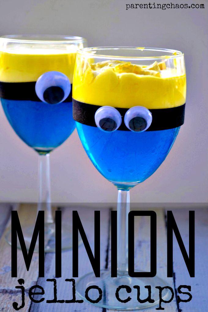 Minion Jello Cups