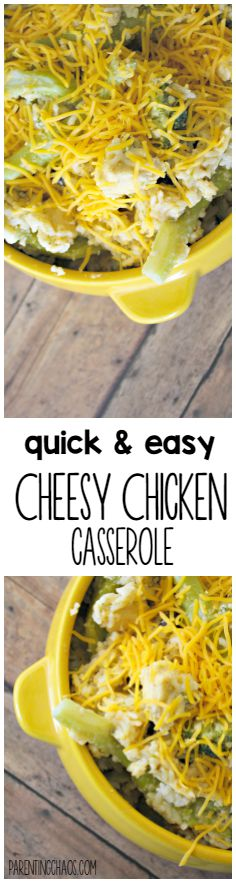 Cheesy Chicken Casserole --this is DELICIOUS!