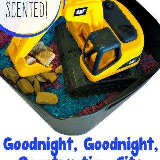 Goodnight, Goodnight, Construction Site Lavender Sensory Bin
