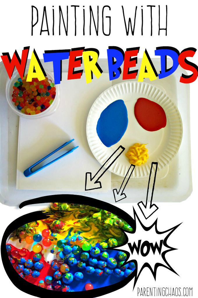 Painting with Water Beads!