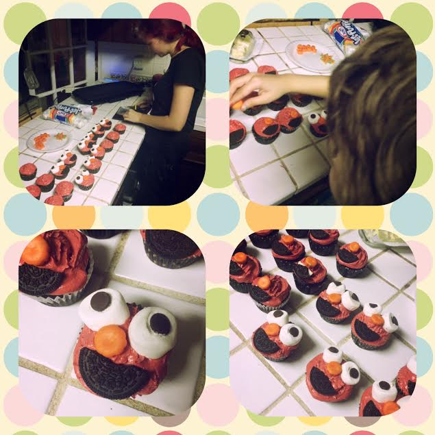 Yummy Elmo Cupcakes so easy to make!