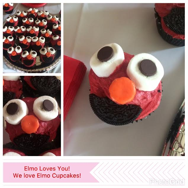 Elmo Cupcakes that are so easy and adorable to make! Kids loved making these!