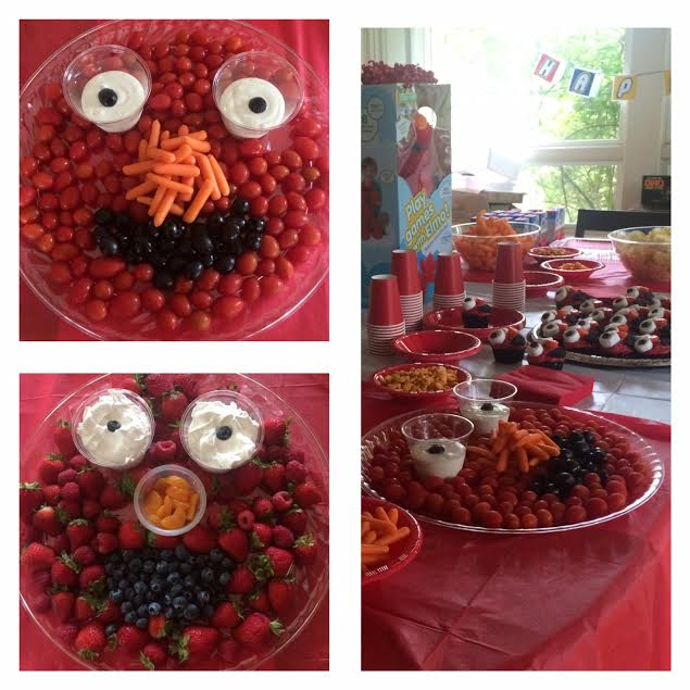 Elmo Party Food With Fruits and Veggies Kids Love!