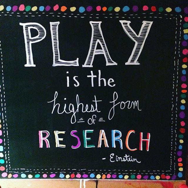 Chalk Board Play Quote By Einstein