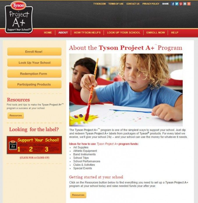 How to Sign Your School Up for the Tyson Project A+™