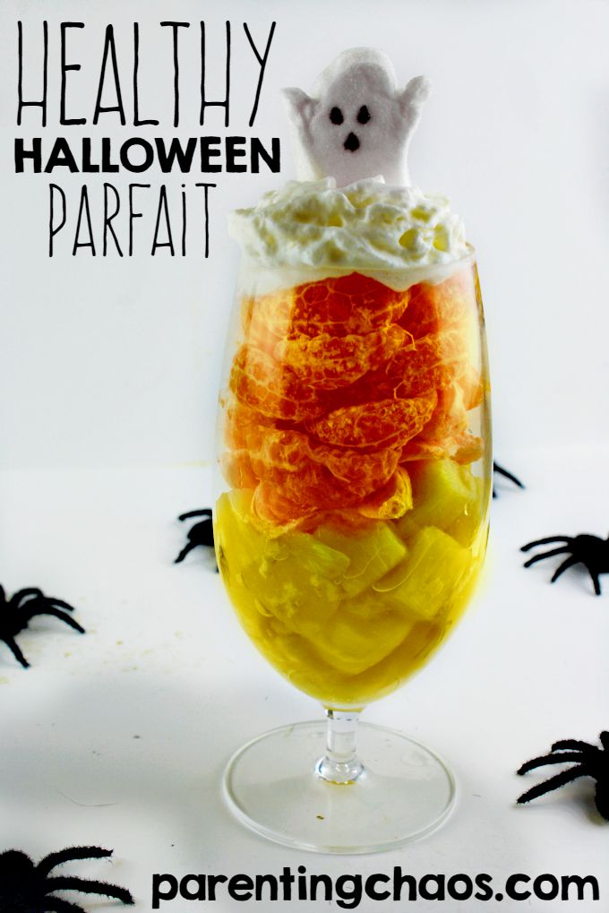 Healthy Halloween Parfait -- I LOVE how it looks like a Candy Cane!