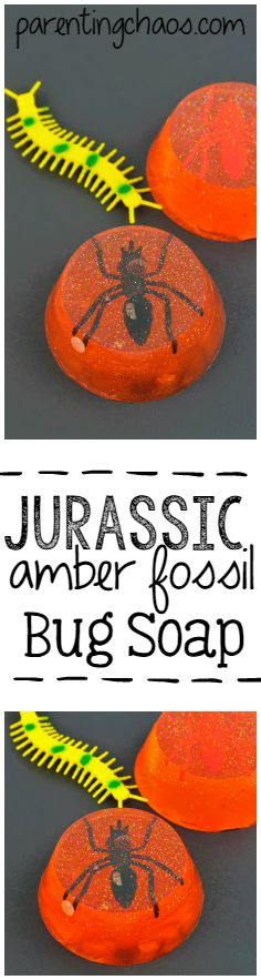 Jurassic Amber Fossil Bug Soap
