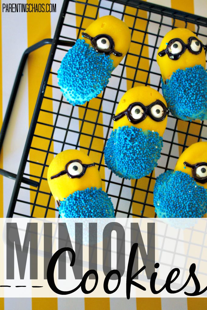 Easy Minion Cookies -- No Baking Involved!