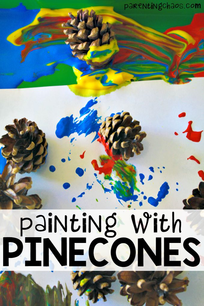 Painting with Pinecones