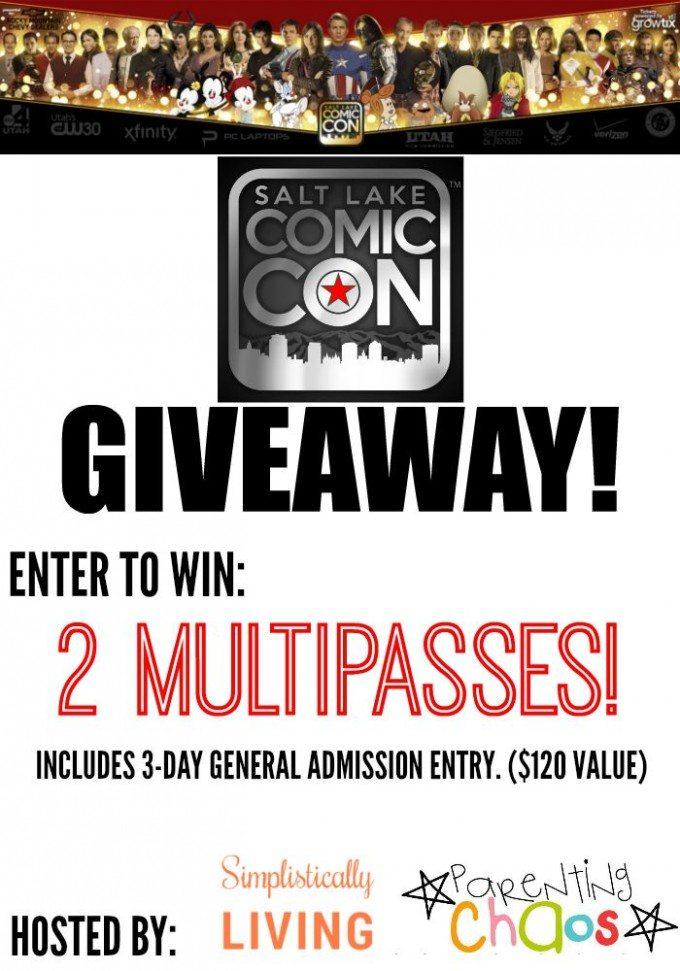 Salt Lake Comic Con Giveaway!