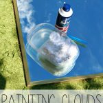 Shaving Cream Clouds on a Mirror