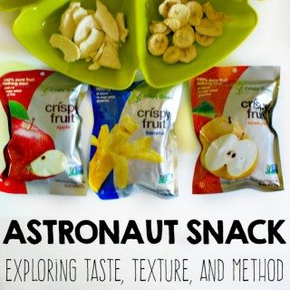 Astronaut Snack -- My kids were amazed by this!