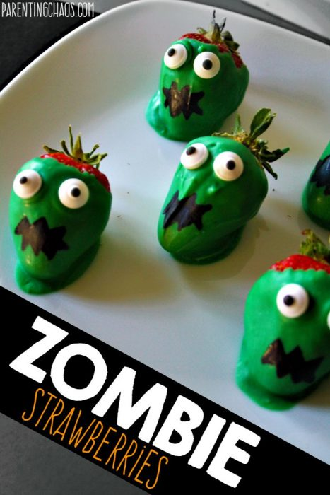 ZOMBIE CHOCOLATE COVERED STRAWBERRIES