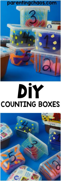 DIY Counting boxes