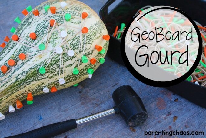 This geoboard gourd is a fantastic fine motor activity!