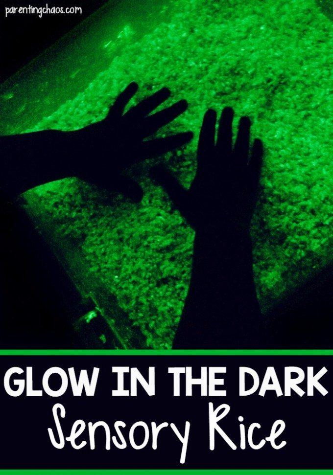 This Glow in the Dark Sensory Rice is AMAZING!