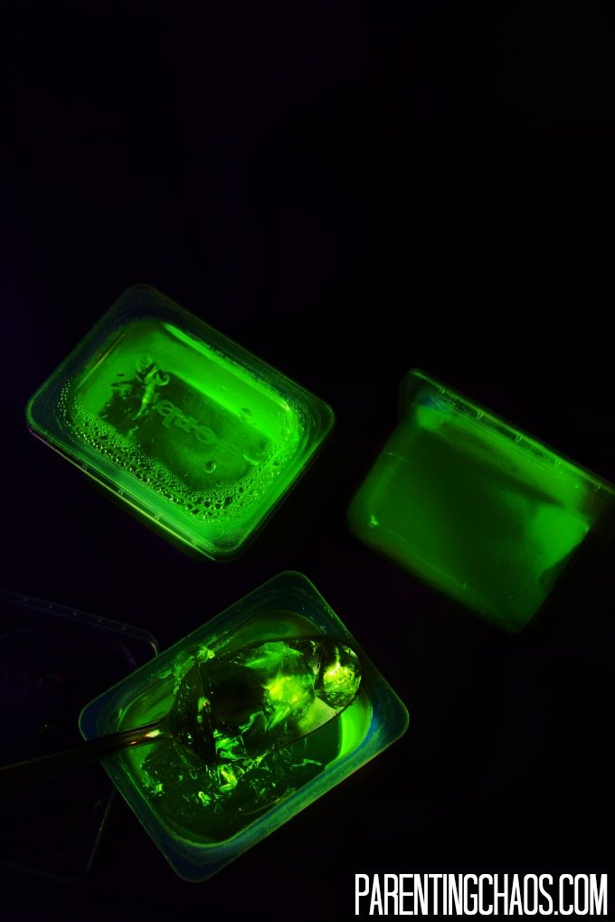 WOW! I would have never guessed it was this easy to make Glow in the Dark Jello!
