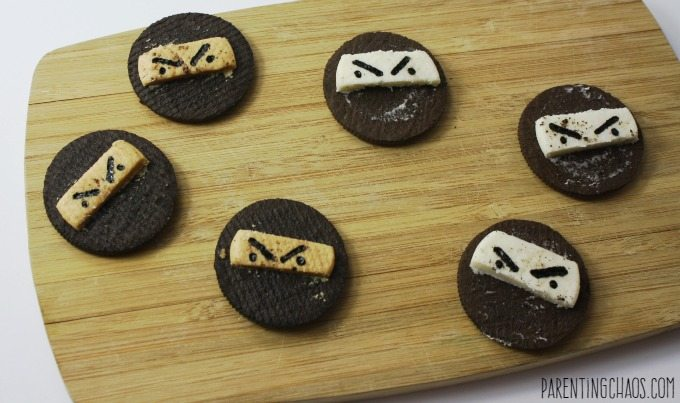 These ninja cookies take less than 5 minutes to make!