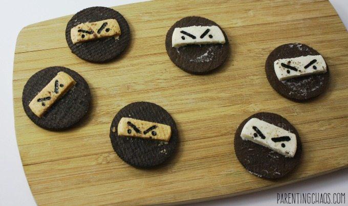 These ninja cookies take less than 5 minutes to make!