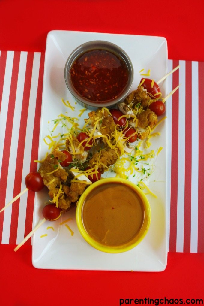 Kids will love these Daisy Hill Chicken Kabobs and secret Peanut Sauce!