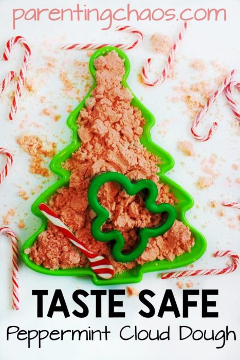 Taste Safe Peppermint Cloud Dough