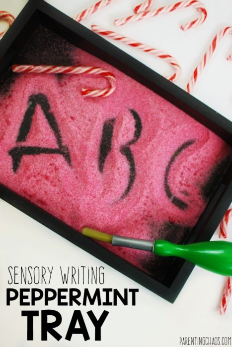 Peppermint Sensory Writing Tray