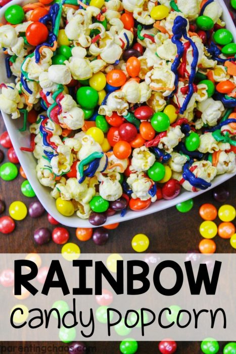 Make Super Bowl 50 Even Sweeter with Rainbow Candy Popcorn!