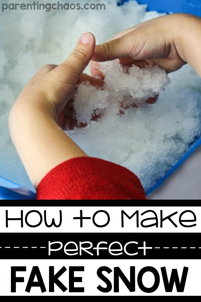How to make perfect fake snow