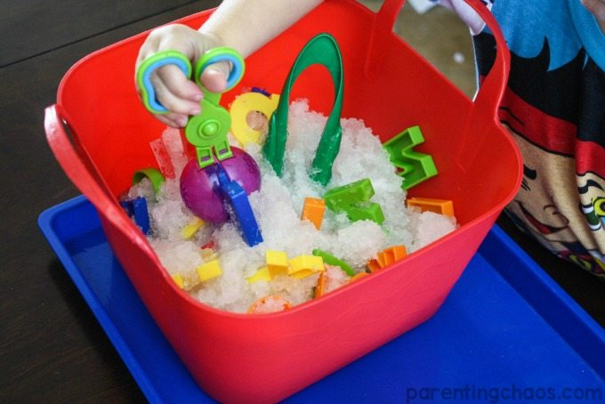 Kids will have a blast rescuing each letter of the alphabet with this letter recognition snow search!