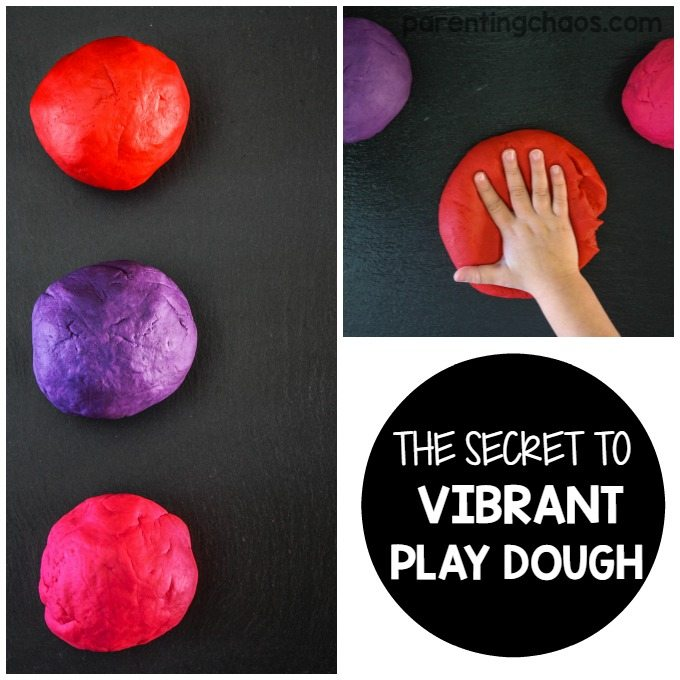 The Secret to Vibrant Play Dough