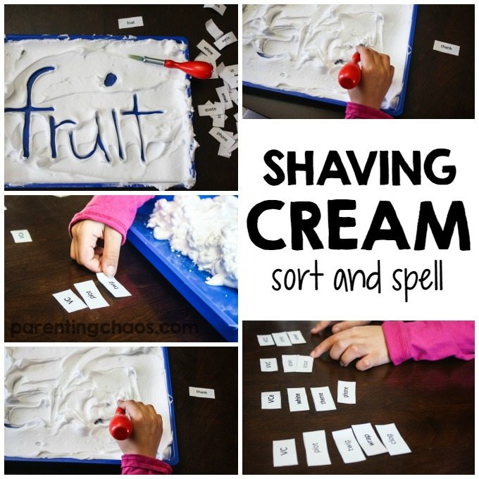 Shaving Cream Sort and Spell