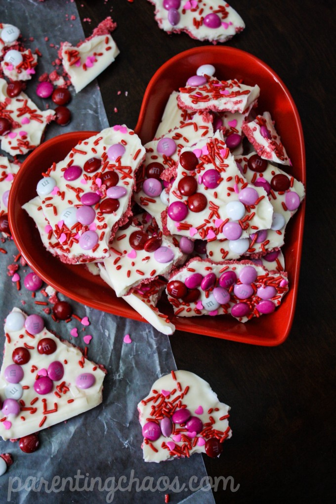 This Strawberry Cheesecake Chocolate Bark is a fantastic treat for Valentine's Day and it uses two of my favorite food groups - strawberries and cheesecake