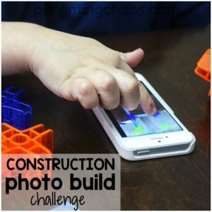 Is tech time becoming a battle in your home? Set up this simple construction photo build challenge and get your kids creating off screen!