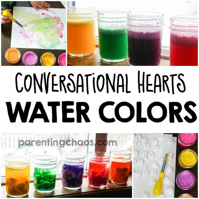 Who knew this science experiment would lead us to discovering How to Make Conversation Heart Watercolor Paints?