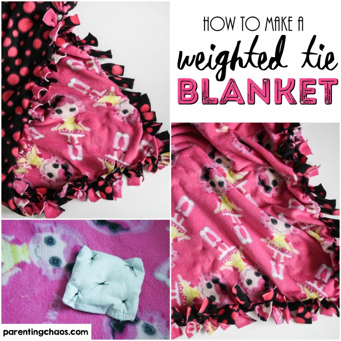This simple weighted tie blanket is easy to make, easy to clean, and can grow with your child!