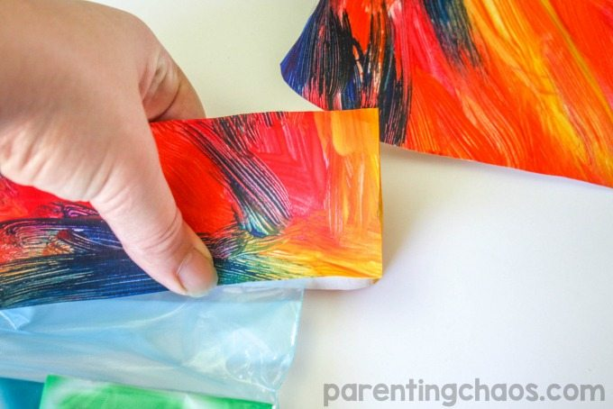 Turn your kids art work into a beautiful gift bag to thank someone in your life who Gives Extra #GiveExtraGetExtra #Target