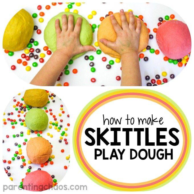 How to Make Skittles Playdough