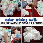 Color Mixing with Microwaved Soap Clouds