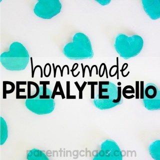 It's that time of year again. If you are hearing the sniffles starting to sneak up in your home this Homemade Pedialyte Jello is a great recipe to keep on hand to help your family stay hydrated.